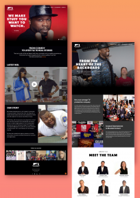Back Roads Entertainment site designed by Fabrica Collective in NYC